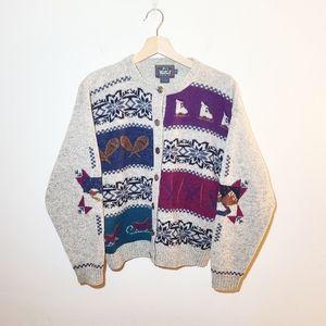 Vintage Woolrich Wool Fair Isle Novelty Sweater